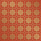 Oriental seamless pattern. Asian traditional geometric floral or. Nament with chinese tracery japanese Royalty Free Stock Images
