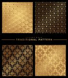 Oriental seamless pattern. Asian traditional geometric floral or vector illustration