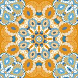 Oriental seamless pattern with circle ornament Royalty Free Stock Images