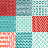 Oriental seamless pattern collection Royalty Free Stock Photography