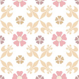 Oriental seamless pattern damask arabesque floral brown elements Royalty Free Stock Images