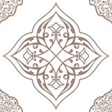 Oriental seamless pattern of mandalas. Vector black and white background. Islamic traditional ornament Royalty Free Stock Photos