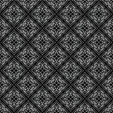 Oriental seamless pattern of mandalas. Vector black and white background. Islamic traditional ornament Royalty Free Stock Photography