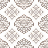 Oriental seamless pattern of mandalas. Vector black and white background. Islamic traditional ornament Stock Images
