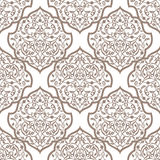 Oriental seamless pattern of mandalas. Vector black and white background. Islamic traditional ornament Stock Photo