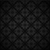 Oriental seamless pattern of mandalas. Vector black and white background. Islamic traditional ornament Stock Photos