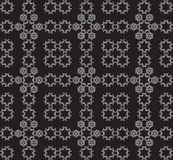 Oriental seamless pattern. White ornament on black background Vector illustration.For Holiday Art, Print, Fashion, Home decor, Craft, Textile, Web design Royalty Free Stock Image