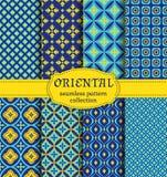 Oriental seamless patterns. Stock Image