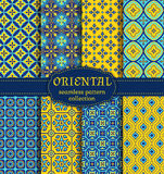 Oriental seamless patterns. Royalty Free Stock Image
