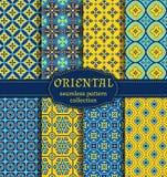 Oriental seamless patterns. Royalty Free Stock Image
