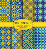 Oriental seamless patterns. Royalty Free Stock Images