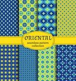 Oriental seamless patterns. Stock Photos