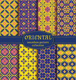 Oriental seamless patterns. Stock Image