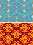 Oriental Seamless Tile. (background, wallpaper, texture, pattern stock illustration