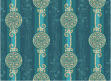 Oriental Seamless Tile. Oriental Chinese Seamless Tile - Grunge is Removable in Vector Format royalty free illustration