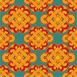 Oriental Seamless Tile. Oriental Chinese Seamless Tile - Including Vector Format stock illustration
