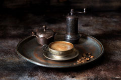 Oriental set coffee Royalty Free Stock Images