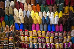 Oriental shoes on display Stock Photos