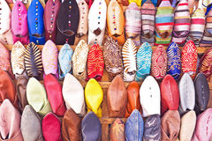 Oriental shoes from Morocco. Africa Royalty Free Stock Photography