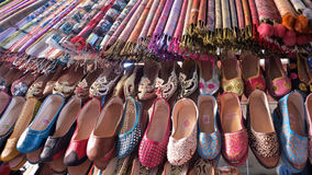 Oriental shoes from Morocco Africa Stock Image