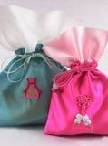 Oriental silk bags Stock Image