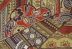 Oriental Silk Fabric Pattern. Horizontal format Royalty Free Stock Photo