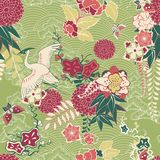Oriental silk pattern Stock Images