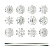Oriental silver pattern Royalty Free Stock Photography