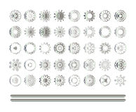 Oriental silver pattern Stock Photos