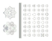 Oriental silver pattern Stock Photo