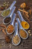 Oriental Spices - Cooking Ingredients Royalty Free Stock Photography