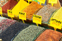 Oriental spices, the Grand Bazaar, Istanbul Royalty Free Stock Photography