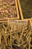 Oriental spices on a market Stock Photo