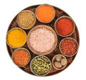 Oriental spices and seasonings. On a white background stock photography