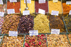 Oriental spices and tea at the Grand Bazaar in Istanbul Stock Photography