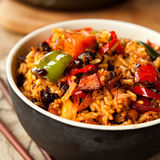 Oriental spicy  chili  fried rice Royalty Free Stock Photo