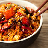 Oriental spicy  chili  fried rice Stock Photo