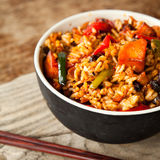 Oriental spicy  chili  fried rice Royalty Free Stock Photos