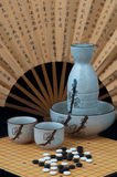 Oriental still life with sake Royalty Free Stock Photo