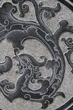 Oriental stone pattern. On a wall Stock Photos