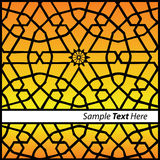 Oriental style. Vector illustration of oriental pattern Royalty Free Stock Photos