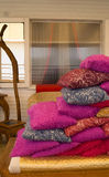 Oriental style. A pile of cushions colorful Stock Photo