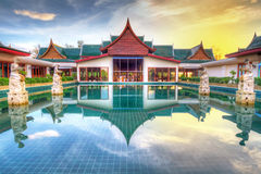 Oriental style architecture in Thailand. At sunrise Stock Image