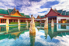 Oriental style architecture in Thailand stock photography