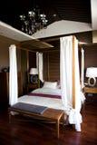 Oriental style bedroom. Oriental style resort bedroom in China Royalty Free Stock Image