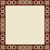 Oriental style border and frame vector. Decorative frame pattern drawn in the old style Royalty Free Stock Photo