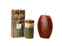 The oriental style candles stock images