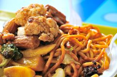 Oriental style fried noodles Stock Photography