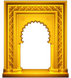 Oriental style gold frame Stock Photography