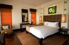 Oriental style hotel room at spa resort royalty free stock image